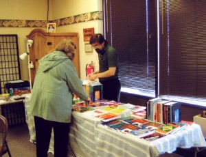 Books for sale at the Termination Dust Sectional, Anchorage, AK, October 2004