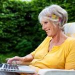Play bridge on your laptop in the garden