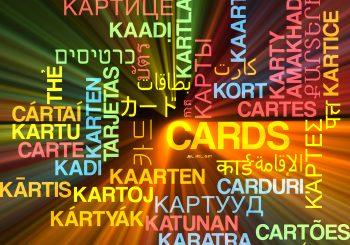 Cards multilanguage wordcloud