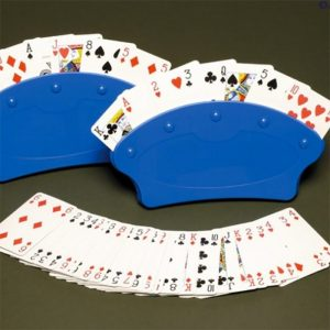Fan shape plastic card holder from Seven No Trump - Gifts for card players