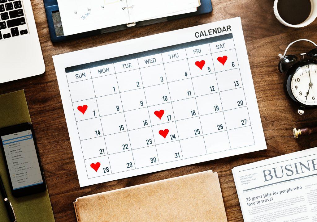 Your Bridge Calendar for 2019