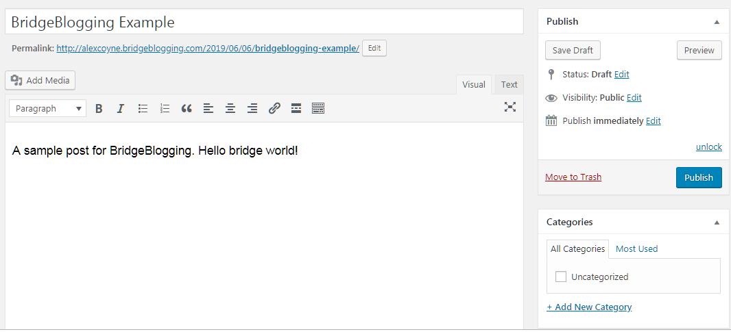 Bridge Blogging with Bridge Blogging
