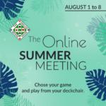 The Online Summer Meeting