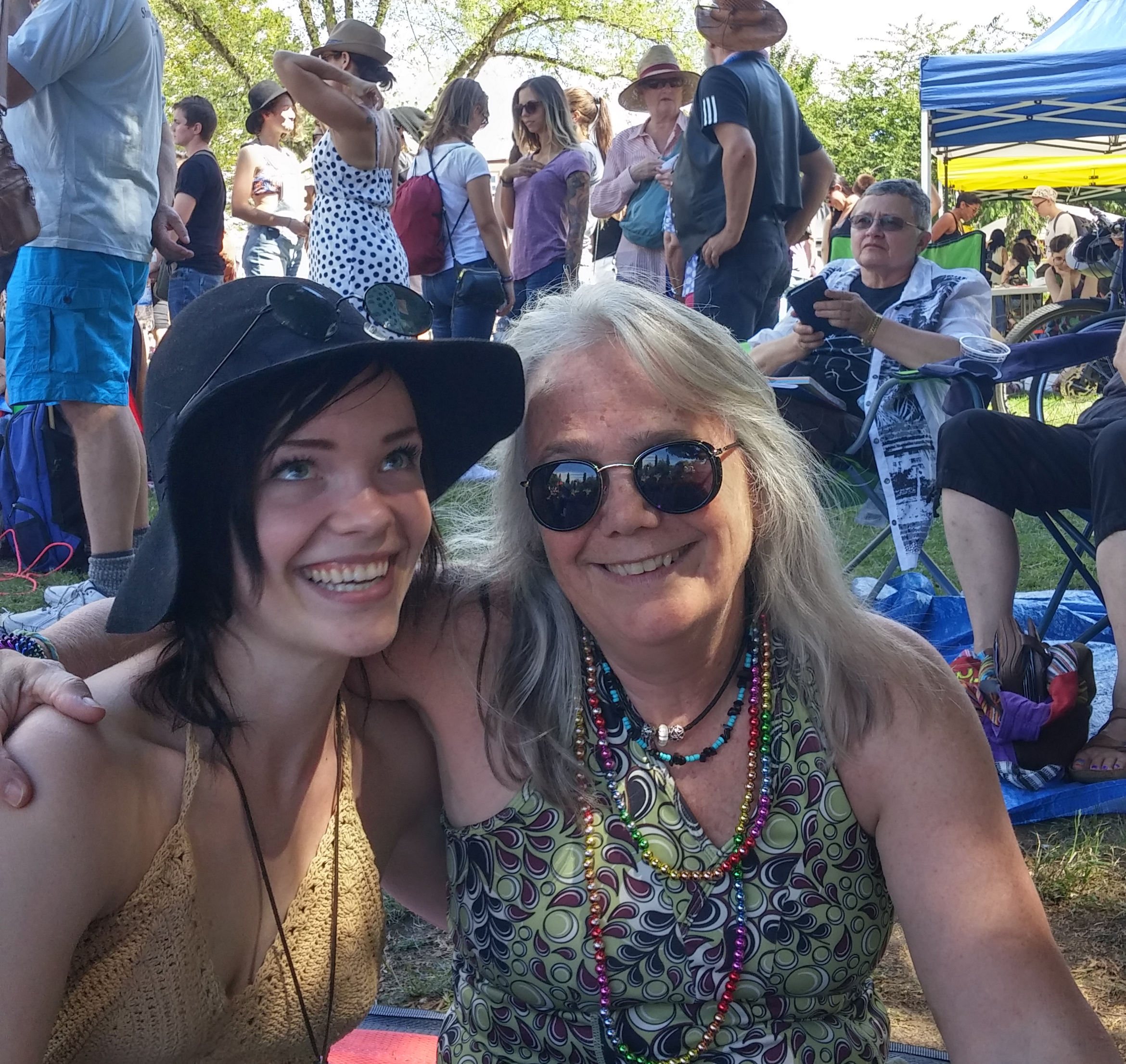 Jude Godwin and her daughter Yvonne, August 2015