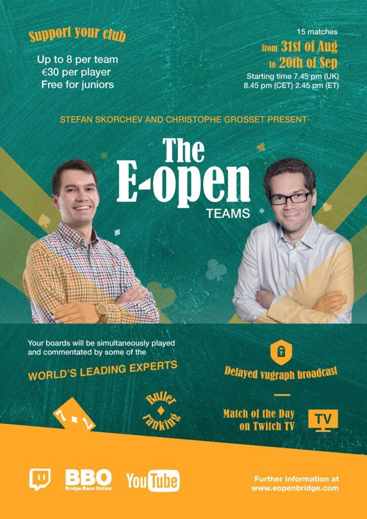 The E-open : A New Online Bridge event