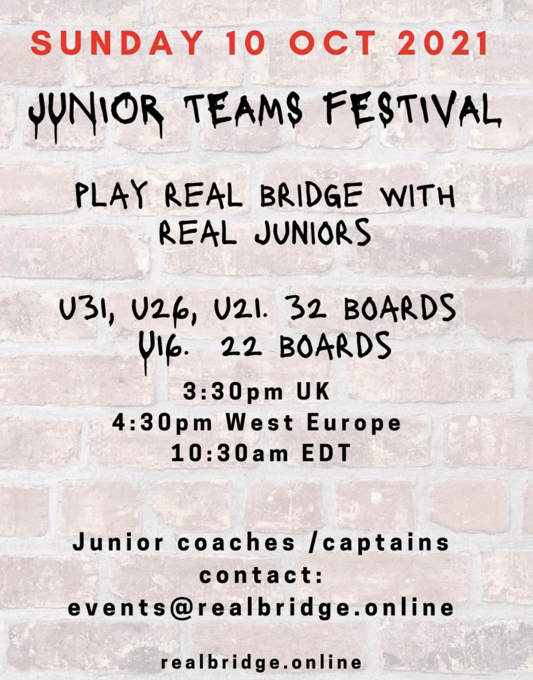 Free Junior Event October RealBridge